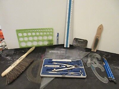 Lot of Staedtler Mars Mechanical Drafting Tools Masterbow Curves Pencils & MORE!