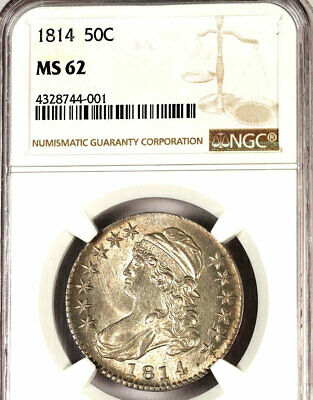 1814 50C Ms62 Ngc-Capped Bust Half Dollar