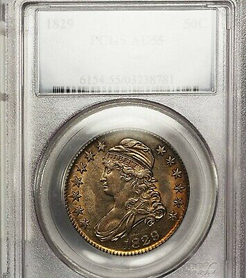 1829 50C Au55 Pcgs-Only 511 In Higher-Capped Bust Half Dollar