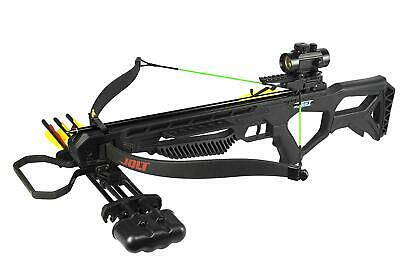 PSE Archery Jolt Recurve Crossbow Pkg 250 Fps Bolts Rope Cocking Device Scope
