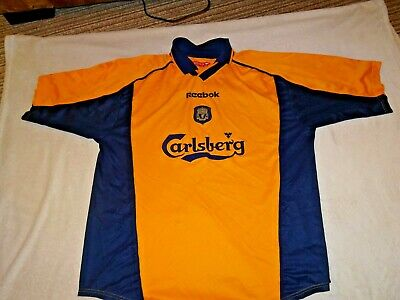 408fc1d78 Liverpool Football Shirt Vintage Away 3Rd 2000 02 Size Large Adult 42 44