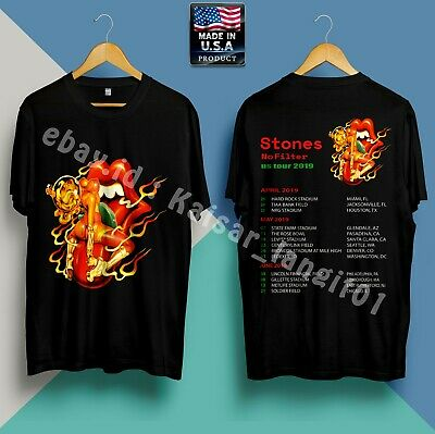 New Rolling Stones No Filter Tour 2019 Update Dates T-Shirt Size S-5XL