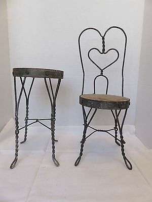 CONCORD PR OF END TABLE //NIGHT STANDS IRON WIRE  DOLLHOUSE FURNITURE  MINIATURES