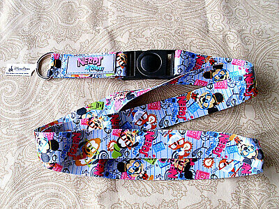 Disney * NERDS - MICKEY & FRIENDS * New Pin Trading Lanyard / Detachable Section