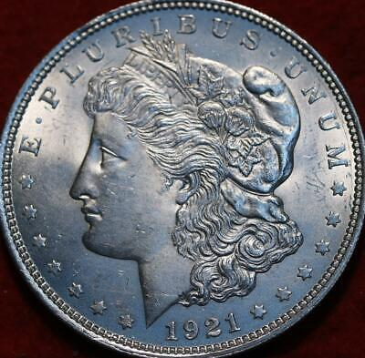 Uncirculated 1921 Philadelphia Mint Silver Morgan Dollar