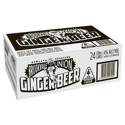 Brookvale Union Ginger Beer Case 4x6x330ml Cans