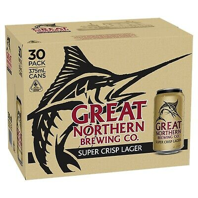 Great Northern Super Crisp Beer 30x375mL Cans