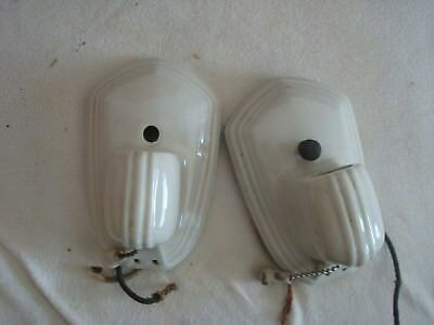 Antique Art Deco Bathroom shaving Light Paulding Porcelain Light Sconces