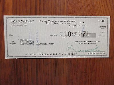 "DANNY  THOMAS  (Died in 1991)(""Make Room For Daddy"") 1974 Signed Cancelled Check"