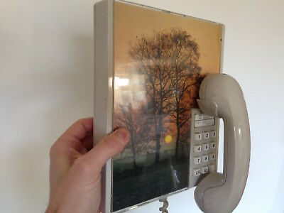 RARE 1980's wall hanging Telephone. telecome,Retro Photo Picture Frame  1980's