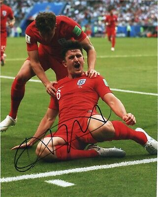 England Harry Maguire Autographed Signed 8x10 Photo COA A