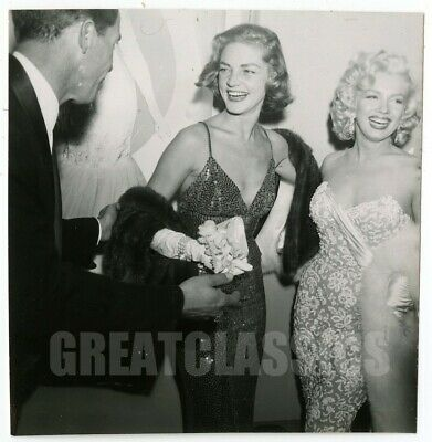 Marilyn Monroe Lauren Bacall How To Marry Millionaire 1953 Vintage Photograph