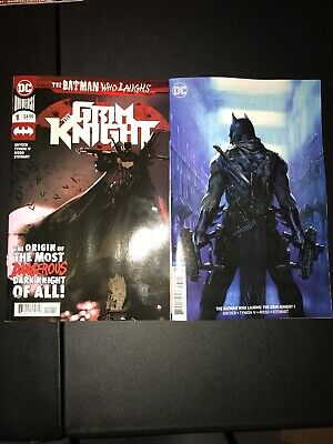 Batman Who Laughs The Grim Knight #1 A Jock & #1 B Dellotto Variant Set 2 Dc