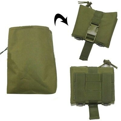 Foldable Utility Tactical Hunting Magazine Ammo Dump Drop Pouch Bag Olive Drab