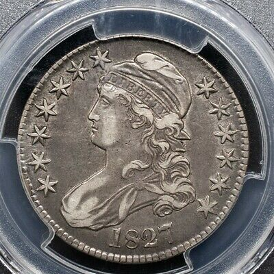 1827 Capped Bust Half Dollar Overton O-117 - PCGS XF45 - Square Base 2