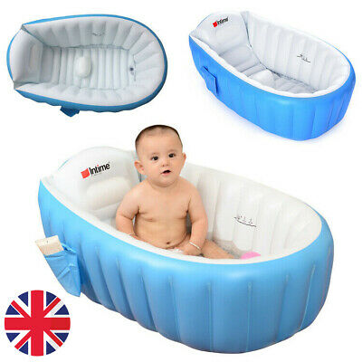 Portable Inflatable Infant Baby Kids Bath Tub Travel Infant Safe Washing Compact