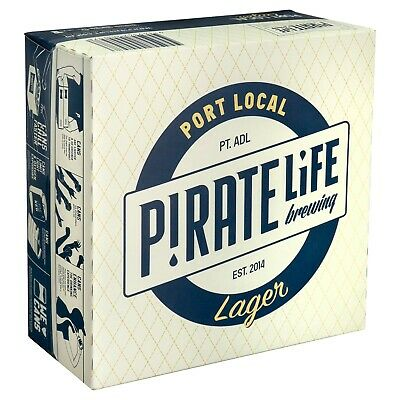 Pirate Life Port Local Lager Beer Case 16x 355mL Cans