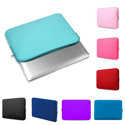 """Neoprene Notebook Cover Sleeve Soft Computer Carry Pouch Laptop Case Bag 11""""-15"""""""