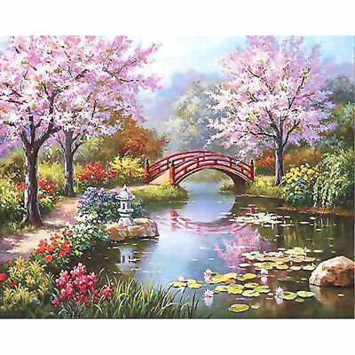Canvas Paint By Numbers Kit Oil Painting DIY Jiannan Spring No Frame Art Gift