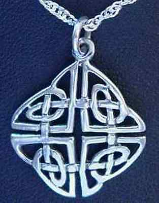 COOL 0499 Good Celtic Infinity Knot Charm Sterling Silver