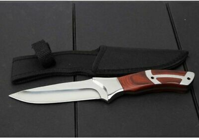 """New 10.3"""" Survival Outdoor Sport Camping Collect Hunting Knife Fixed Blade 320"""
