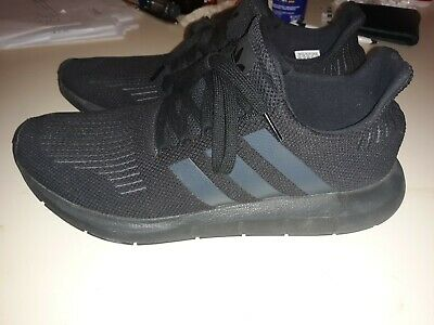 891c20fb45ea2 ADIDAS SWIFT RUN All Black Men s Size 11.5 Running Shoes Gently Used ...
