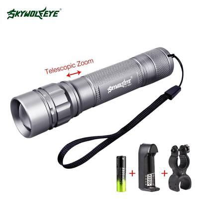 SKYWOLFEYE  Q5 3500 lm LED Bicycle Flashlight 360° Clip+Battery Charger BF