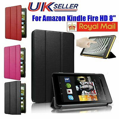 """Magnetic Smart Leather Case Cover Stand For 2017 Amazon Kindle Alexa Fire HD 8"""""""