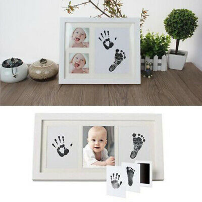 Inkless Wipe Hand Foot Print Kit Ink Pad Fingerprint Baby Keepsake Child Toys