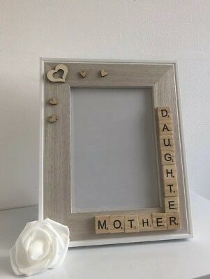Scrabble Photo Frame First My Mum Forever My Friend Birthday Mothers Day Gift