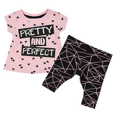 Infant Girls Two Piece Shirt and Bottoms Set Kids Clothing Outfit
