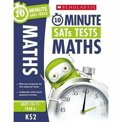 Maths - Year 6 - 10 Minute SATs Tests  - Paperback NEW Handley, Tim 06/07/2017
