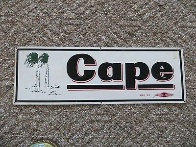 Cape advertising with palm trees sign mfd.by Conner Scioto signs