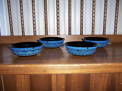 "Set of 4 Arcoroc Yucatan Aztec 6 1/4"" Soup Cereal Bowls USED"