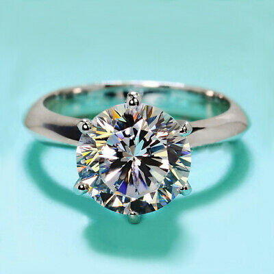 Gorgeous Round Cut 2ct White Sapphire Engagement Ring 925 Silver Wedding Jewelry