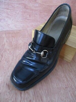 f28a473cb Gucci authentic black smooth leather vintage 90s 00s horsebit loafers 7.5D