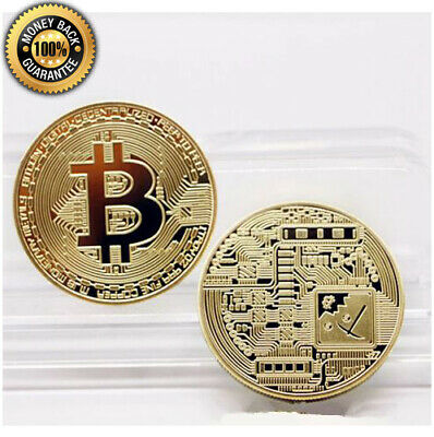 1pcs Gold Plated Bitcoin Coin Collectible Art Collection Gift Physical ...