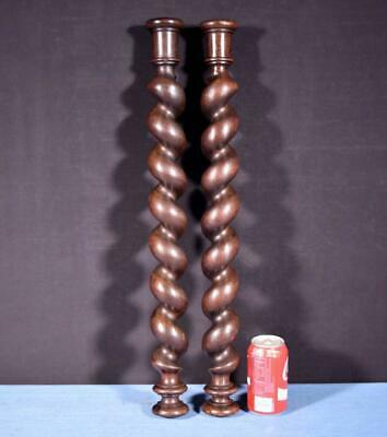 "*25"" Antique Spiral Turned/Barley Twist Posts/Pillars/Columns in Oak Wood"