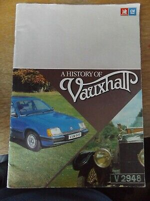 A History Of Vauxhall 1980 Paperback Book