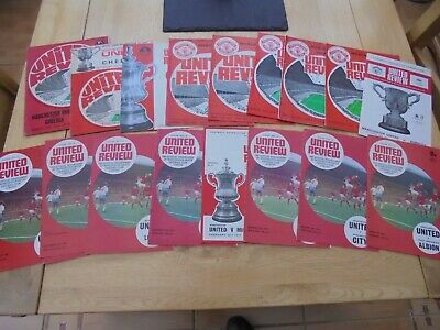 Manchester United Man.utd 23 Home Programme Bundle 1969 - 1973 All Listed