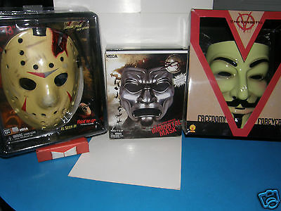 Neca  Masks  Vendetta / Immortal / Friday 13th   . . Deluxe collectible masks