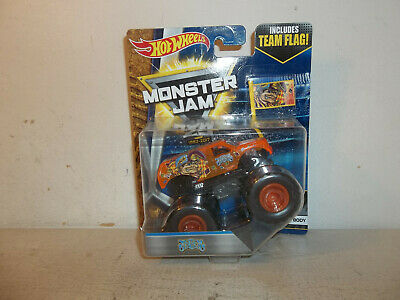 DOOMS DAY RED Tires With Flag Monster Jam Truck Hot Wheels