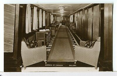 RPPC - The Gallery on the RMS Empress Of Canada Ocean Liner Ship's Postcard