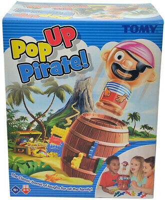 TOMY Pop Up Pirate Classic Childrens Action Game for 2 to 4 players Suitable 4