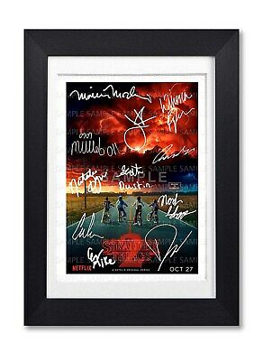 Stranger Things Cast Signed Poster Show Series Season Print Photo Autograph Gift