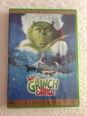 How The Grinch Stole Christmas. (DVD, WS, 2001) J. Carrey SHINES! A CLASSIC!