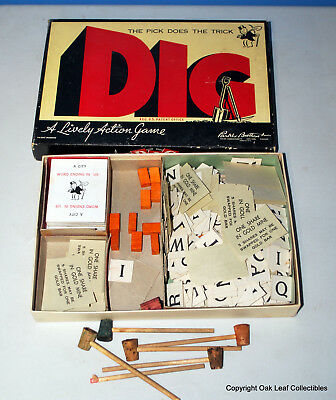 1940 Dig Board Game - Parker Brothers Monopoly Game
