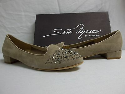 ff418f833d3 Sesto Meucci Of Florence Size 10 M Steffy Beige Suede Flats New Womens Shoes