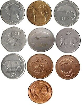 Ireland Irish Decimal Coin Collection  One Punt To Half Punt ( £1 To 1/2P