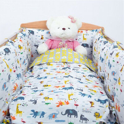 2/4/6Pcs Baby Nursery Bedding Set Cot Bumper Pillow Cot Bed Safety Protector